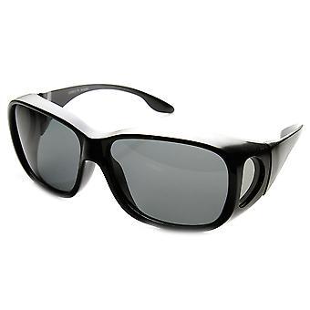 Store polarisert Wrap Side linsen beskyttet fullstendig firkantet form Over solbriller