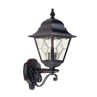 Elstead belysning Norfolk udendørs IP43 op væggen lanterne i sort