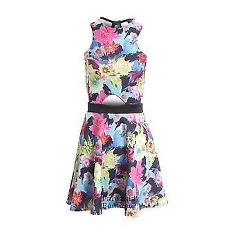 Dames mouwloos voorkant Floral uitknippen afdrukken vrouwen Skater jurk