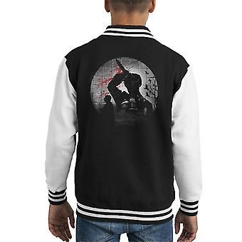 Psycho Silhouette Alfred Hitchcock Kid's Varsity Jacket