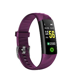 IP68 Water-safe Activity bracelet with heart rate monitor-Purple
