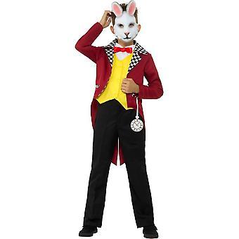 Conejo blanco traje de Smiffy, disfraces niños