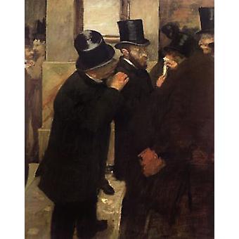 At the Stock Exchange, Edgar Degas, 50x40cm