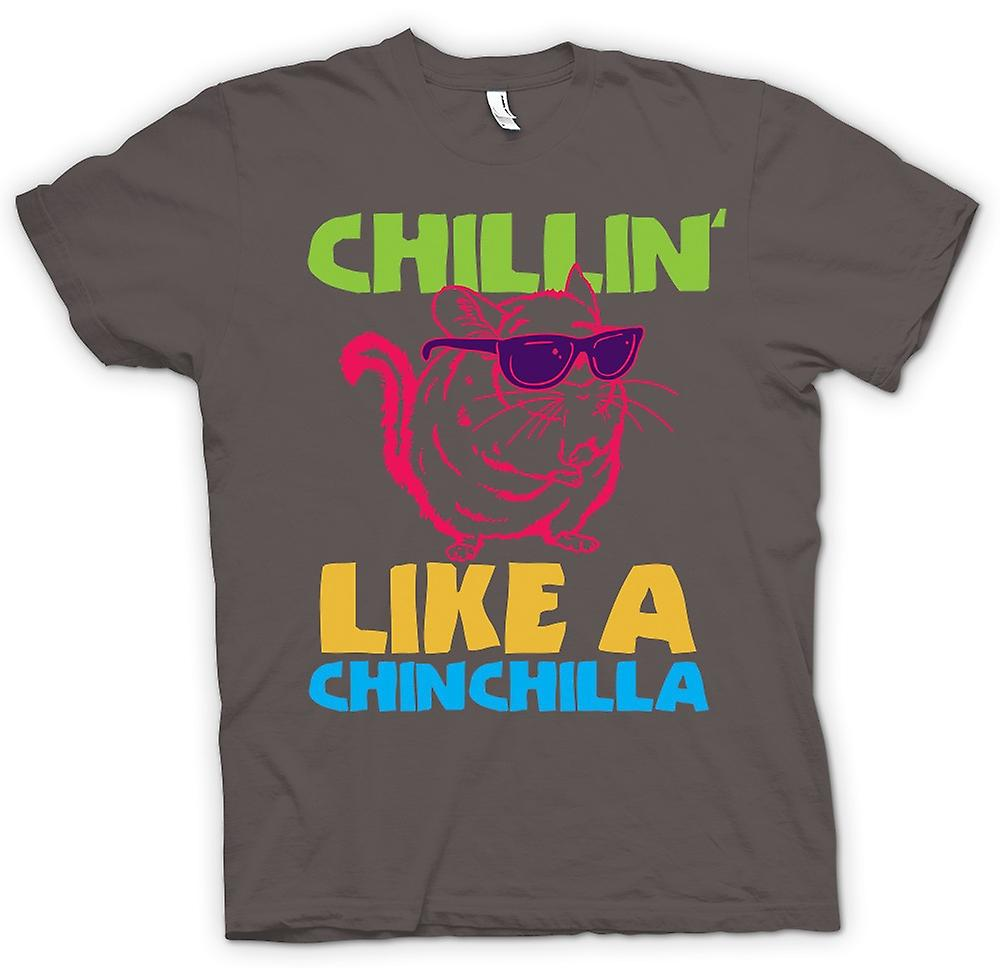 Womens T-shirt-Chillin als een Chinchilla