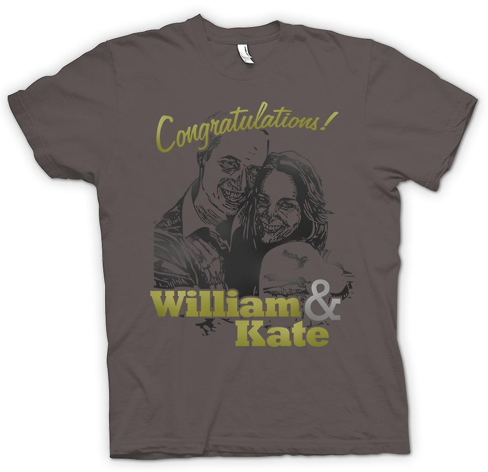 Womens T-shirt-Félicitations William et Kate