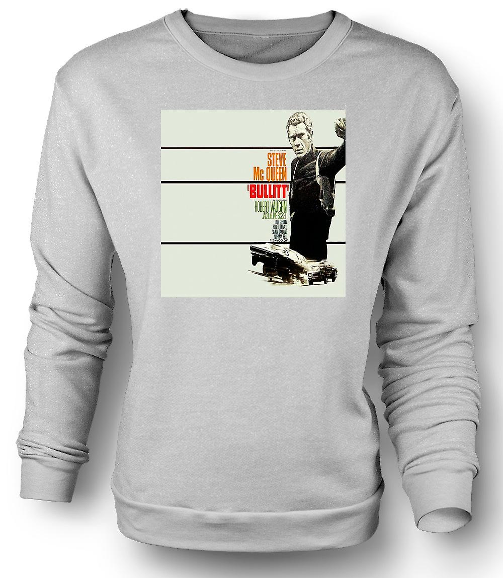 Mens Sweatshirt Steve Mcqueen - Bullit - affisch