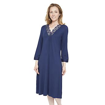 Cyberjammies 1298 Women's Nora Rose Adele Blue Night Gown Loungewear Nightdress