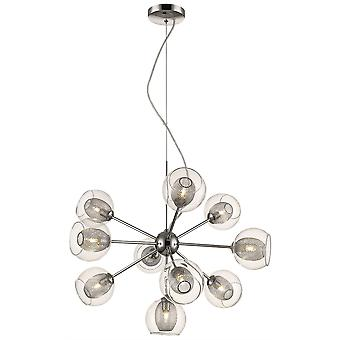 Spring Lighting - Liverpool Chrome Ten Light Pendant  DBOP057DI10EFDP