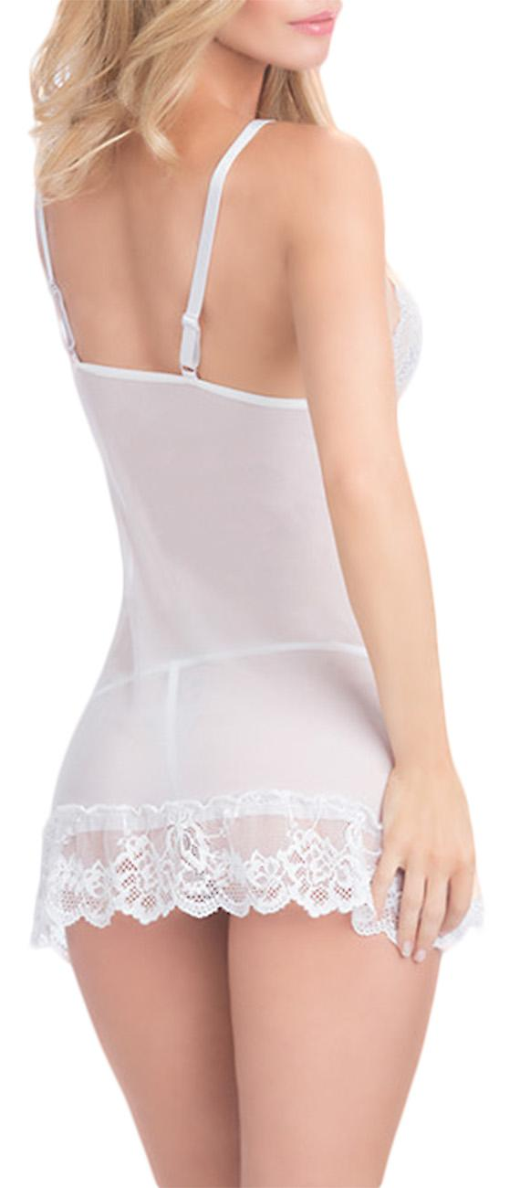 Waooh - Transparent Babydoll with lace GoID
