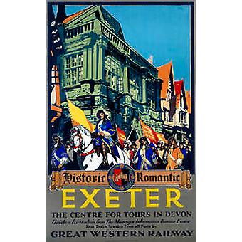 Exeter Historic (old rail ad.) fridge magnet