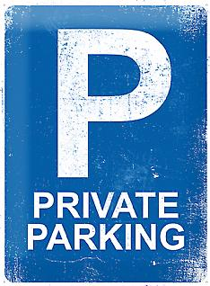 Private Parking large embossed steel sign    (na 4030)