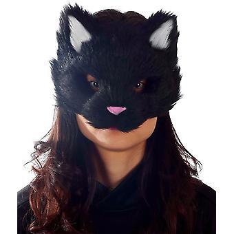 Gattino nero maschera
