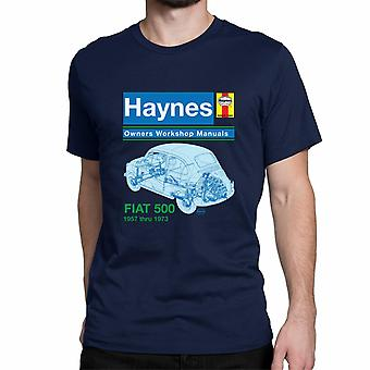 Official Haynes Manual Unisex T-shirt FIAT 500 1957 to 1973 Owners Workshop Manuals