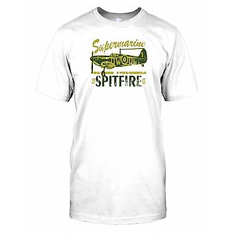Supermarine Spitfire - Royal Air Force World War II Kids T Shirt