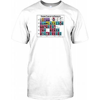 Periodic Table Of US Presidents - Cool Design Kids T Shirt