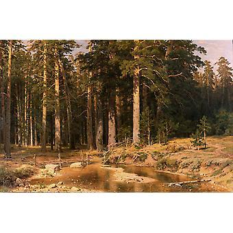 Landscape with a Hunter,Ivan Shishkin,60x40cm