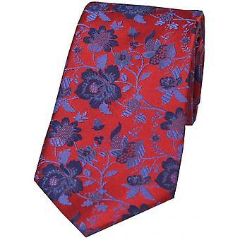 David Van Hagen Floral gemusterte Krawatte - rot/blau
