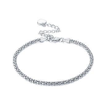 925 Sterling Silver Dainty Bracelet Popcorn Chain