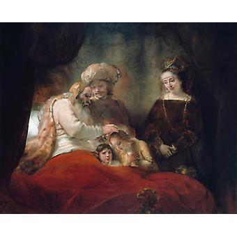 Rembrandt, Rembrandt van rijn, 50x40cm