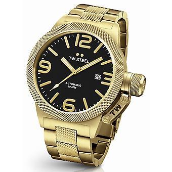 Tw Steel Cb96 Canteen Bracelet Automatisch Heren Horloge 50mm Goud Demo
