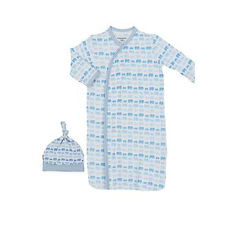 Magnificent Baby Magnetic Me™ Modal Dancing Elephants Baby Gown & Hat Set