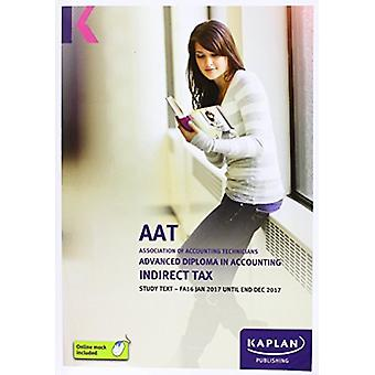 AAT Indirect Tax FA2016 - Study Text by Kaplan Publishing - 978178415