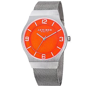 Akribos XXIV Men's AK851 Classic Dial Mesh Stainless Steel Bracelet Watch AK851OR