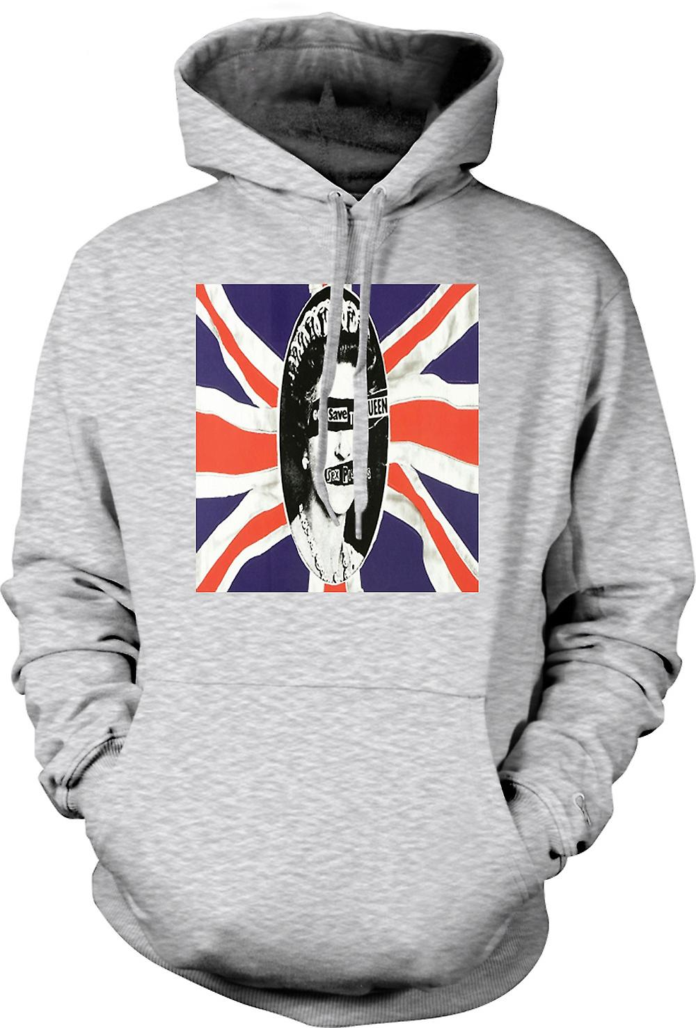 Mens Hoodie - Save the Queen - Punk