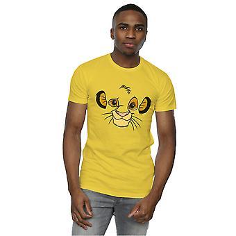 Disney Men's The Lion King Simba Face T-Shirt