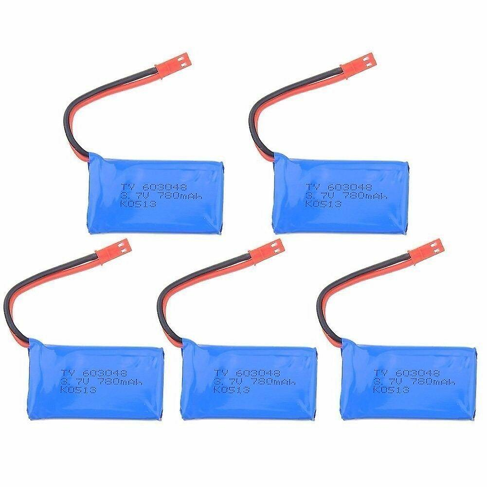 5 PIECES WLtoys JJRC V686G V686J V686K V636 Parts 3.7V 780mAh Lipo Battery + JST Cable
