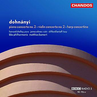 E.V. Dohnanyi - Dohn Nyi: Concerto pour Piano n° 3; Concerto pour violon nº 2; Importer de la harpe Concertino [CD] é.-u.
