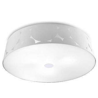 3 Light Flush Ceiling Light White