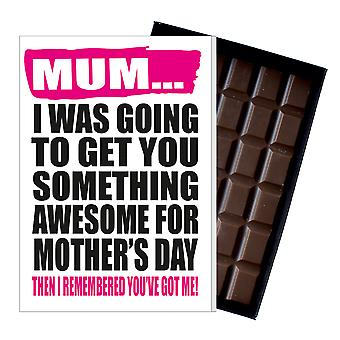 Funny Mother's Day Gift Boxed Chocolate Present Rude Greeting Card For Mom Mum Mumy MIYF125
