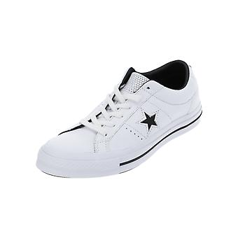 Converse ONE STAR LEATHER - OX Women's Sneaker Sports GymnasticS Shoes White NEW