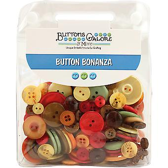 Button Bonanza .5lb Assorted Buttons-Harvest BB-48