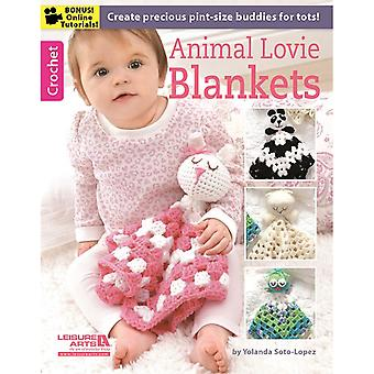 Leisure Arts-Animal Lovie Blankets LA-6373