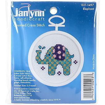Elephant Mini Counted Cross Stitch Kit-2.5