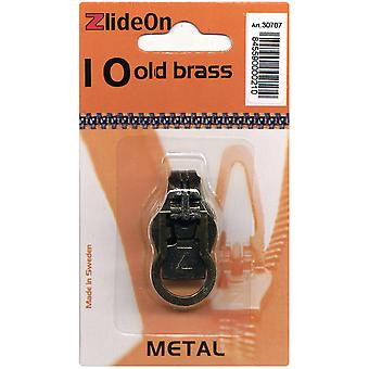 Zlideon Zipper Pull Replacements Metal 10 Old Brass 3070 7