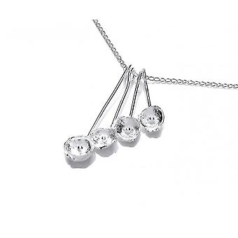 Cavendish French Silver Lily Cluster Necklace