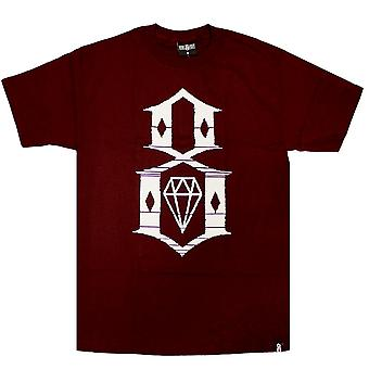 Rebel8 Static 8 Men's T-shirt Burgundy