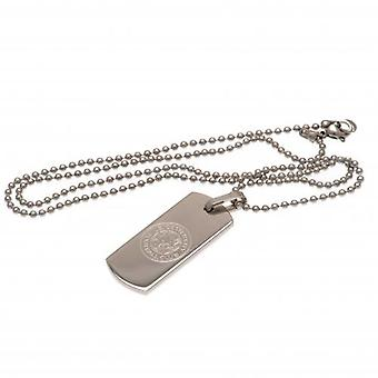 Leicester City Narrow Dog Tag & Chain