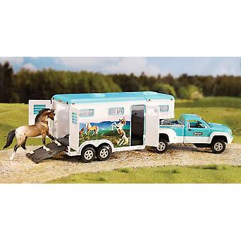 Breyer Vehicle Trailer Pick-Up And Horses - 1:32