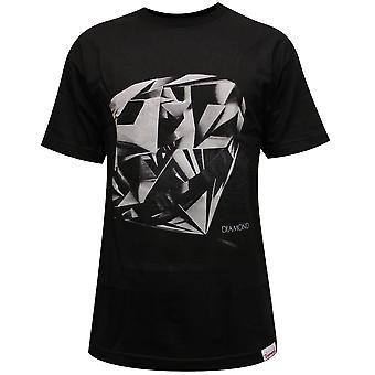 Corte de diamante diamante fuente Co camiseta negro