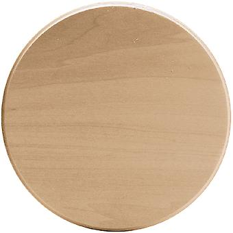 Basswood Circle Thin Plaque-6
