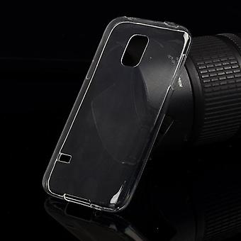 Ultra thin cellphone cover cases TPU for mobile Samsung Galaxy S5 active transparent Matt