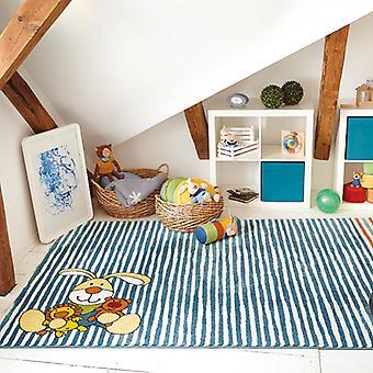 Semmel Bunny Teppich In blau-0527-01