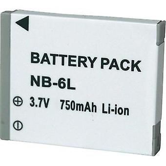 Camera battery Conrad energy replaces original battery NB-6L 3.7 V 600 mAh