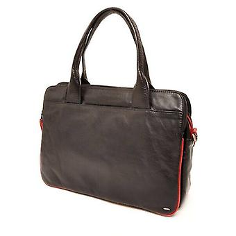 Berba Soft handbag/Businesstas in A4 format 005-964 black/red