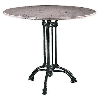 Wayson Round Marble Or Granite Dining Kitchen Table Large Or Small Top Cast Iron Base: Bottocino - Marble