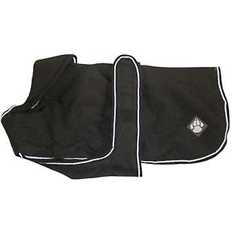 Luxury Coat Ebony Waterproof Dog Coat 40cm (16